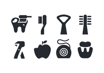 Dental Care Icons - Free vector #419105