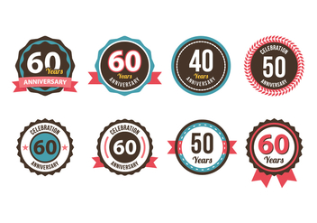 Anniversary Badge Vector - бесплатный vector #419225