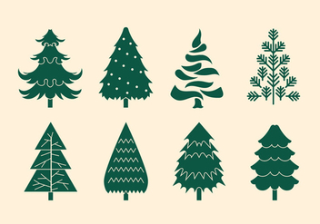 Vector Collection of Christmas Trees or Sapin - vector gratuit #419245