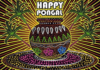 Happy Pongal Background - vector gratuit #419265