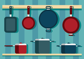 Cookware and Pan Vectors - бесплатный vector #419305