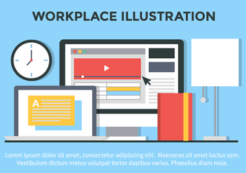 Free Vector Flat Design Office Illustration - Kostenloses vector #419455