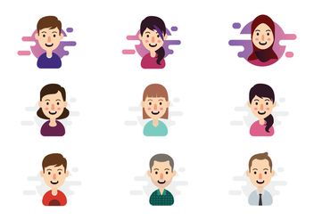 Happy People Personas Vector - бесплатный vector #419465