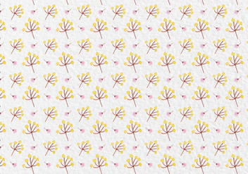 Free Vector Watercolor Flowers Pattern - бесплатный vector #419505