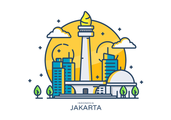 Monas Linear Vector Illustration - Kostenloses vector #419555