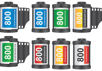 Camera Film Roll - vector #419575 gratis