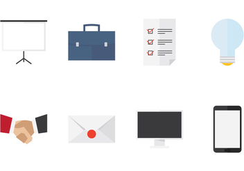 Business Flat Icons - Free vector #419695