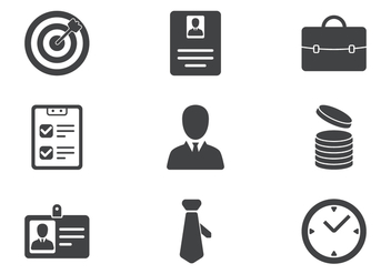 Business Icon Set - vector #419725 gratis