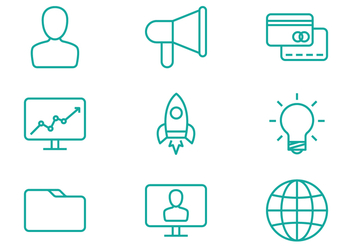 Business Line Icons - vector gratuit #419735