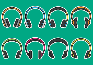 Head Phone Icons - vector #419785 gratis