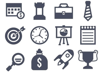 Free Business Icons Vector - vector gratuit #419795