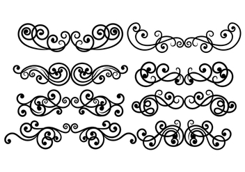 Scrollwork Vector - Free vector #419805