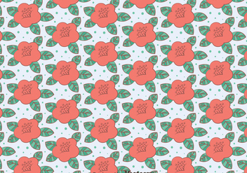 Pink Camellia Flowers Pattern - Free vector #419815