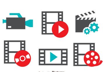 Film Movie Icons Vector - vector gratuit #419835