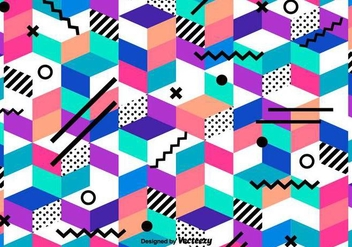 Vector Abstract Colorful Geometrical Pattern - vector #419925 gratis