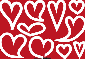 Vector Abstract Heart Shapes - vector gratuit #419985
