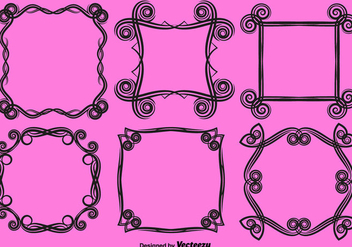 Vector Ornamental Love Frames - Kostenloses vector #419995