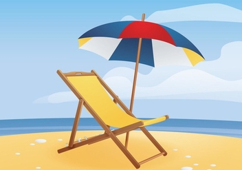 Free Deck Chair - Free vector #420075