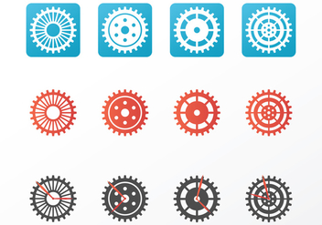 Bright Clock Parts Vectors - vector gratuit #420115
