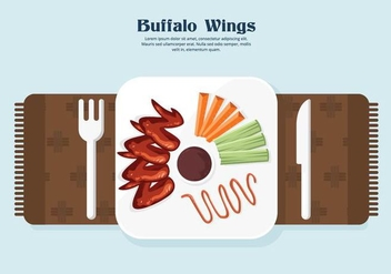 Buffalo Wings Vector - Free vector #420155