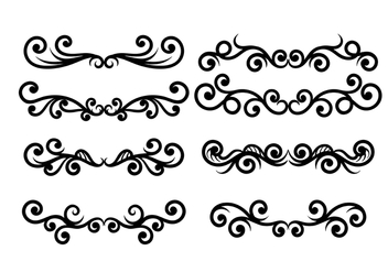 Scrollwork Vector - Free vector #420165