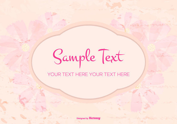 Floral Grunge Text Template - Free vector #420265