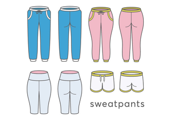 Sweatpants vectors - vector #420295 gratis