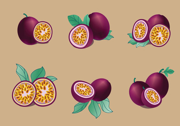 Passion fruit vector pack - Kostenloses vector #420305