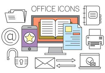 Free Office Icons - vector gratuit #420335