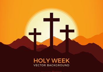 Free Holy Week Vector Background - бесплатный vector #420395