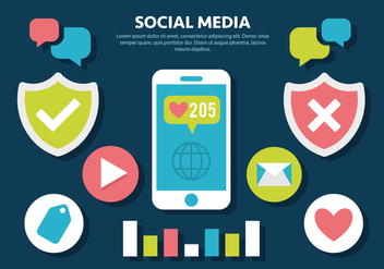 Free Social Media Vector Illustration - Kostenloses vector #420425
