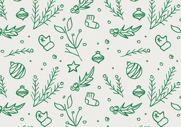 Free Christmas Hand Drawn Pattern Background - бесплатный vector #420485