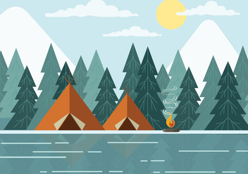 Free Landscape Vector Illustration - Kostenloses vector #420495