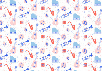 Musical Instruments Pattern - vector #420555 gratis