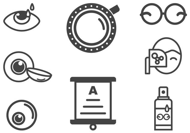 Optometry and Eye Health Icons - vector #420705 gratis