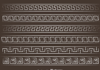 White Greek Key Vector - бесплатный vector #420755