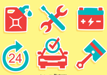 Great Car Service Icons Vector - vector gratuit #420765