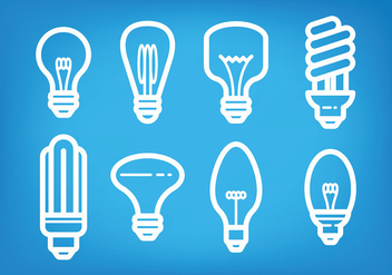Light Bulb Ampoule Icons Vector - vector #420795 gratis
