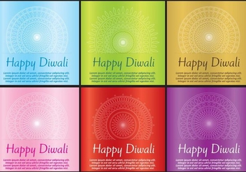 Diwali Cards - Free vector #420875