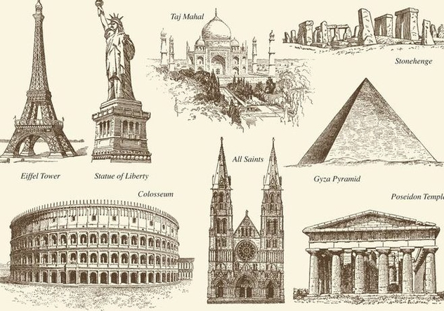 Old Style Monuments Vector - Free vector #420885
