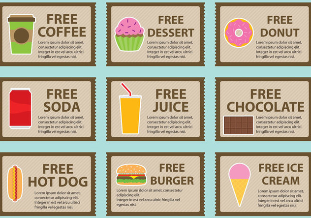Free Coupons - vector #420915 gratis