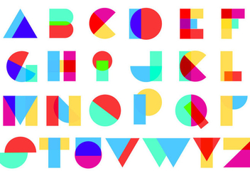 Full Color Abstract Alphabet - Free vector #420985