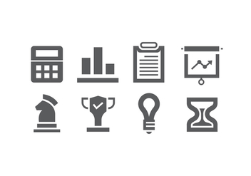 Set of business icons - vector #421045 gratis