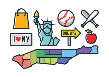 New York Icons - vector #421095 gratis