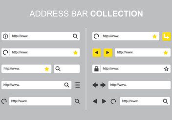 Address Bar Collections - vector #421105 gratis