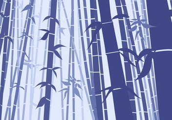 Bamboo Scene Flat Style - Free vector #421135