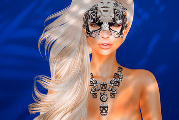 Glamor mask & necklace by sYs @ BishBox - Free image #421235
