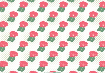 Petunia Seamless Vector Pattern - бесплатный vector #421275