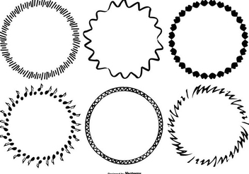 Funky Sketchy Frame Collection - Kostenloses vector #421285