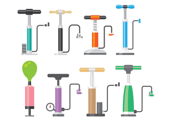 Shiny Air Pump Icon Vectors - бесплатный vector #421315